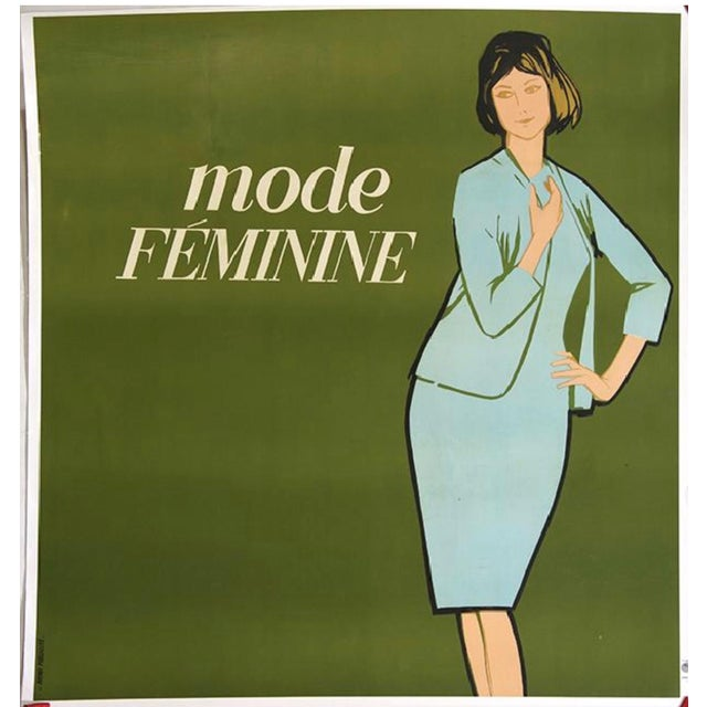 La Mode Feminine Lithograph in Colors by Avenir Publicite France (1960) - Image 2 of 3