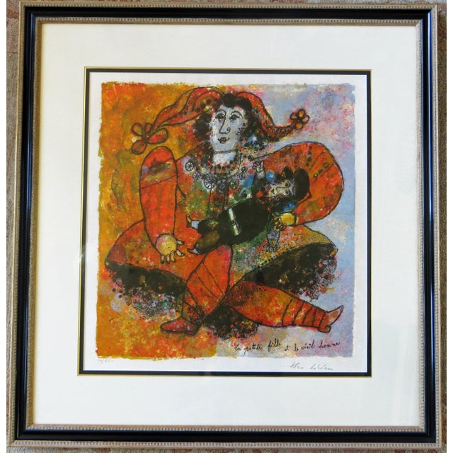 """Theo Tobiasse """"The Little Girl and The Old Man"""" Lithograph For Sale In San Francisco - Image 6 of 6"""