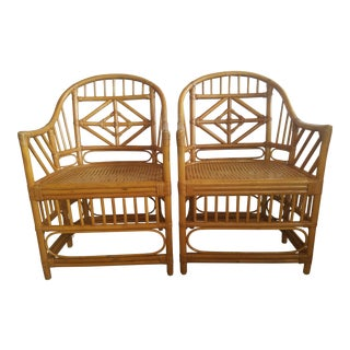 Bamboo Brighton Style Chairs - a Pair For Sale