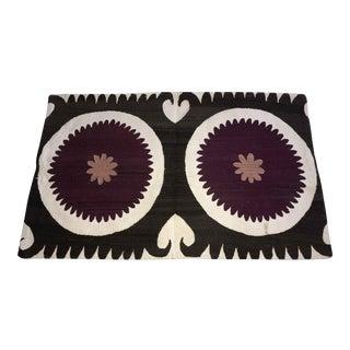 Vintage Large Antique Samarkand Bolster Pillow Cover For Sale
