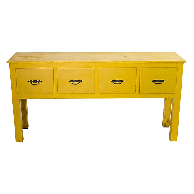 Southwestern Yellow Console Table - Image 1 of 3