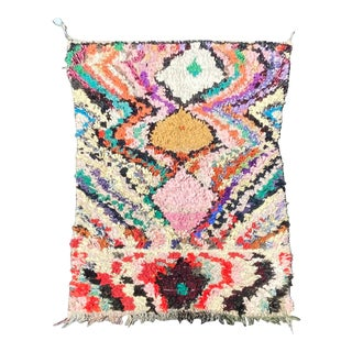 Moroccan Boucherouite Berber Rug For Sale
