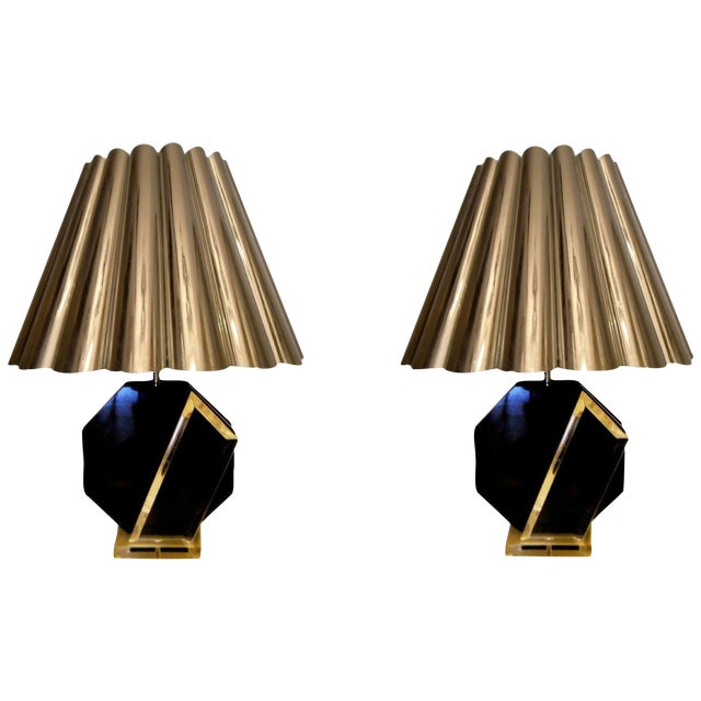 Vintage Van Teal Table Lamps - A Pair For Sale