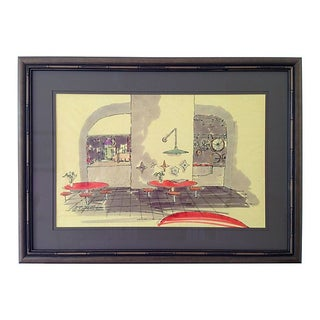 Midcentury Architectural Drawing