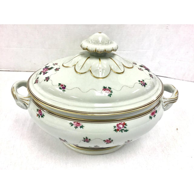 Mid 20th Century Mottahedeh Porcelain Soup Tureen With Underplate For Sale - Image 5 of 8