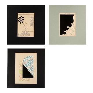 19th C. Original Japanese Woodcut Prints - Set of 3