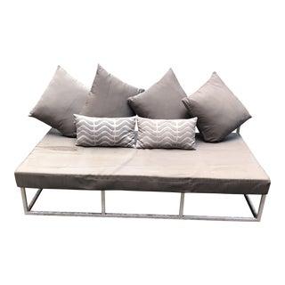 CB2 White Enamel Outdoor Sofa