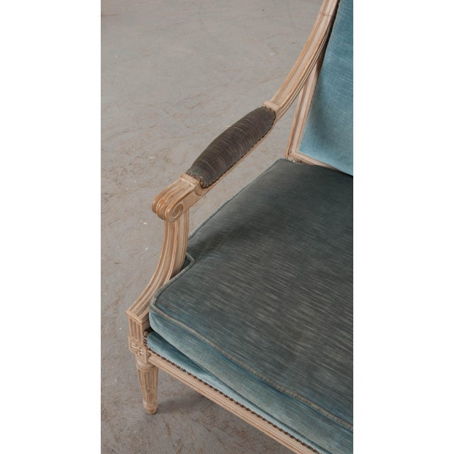 19th Century French Louis XVI Style Painted Fauteuil Chair For Sale - Image 11 of 12