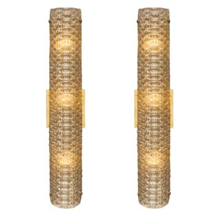 Murano Glass Modernist Textured Sconces For Sale
