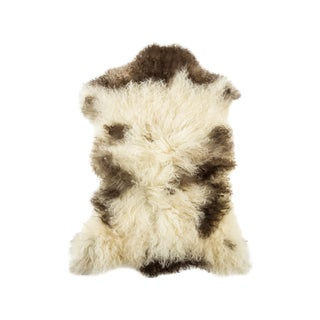 "Contemporary Long Soft Wool Sheepskin Pelt - 2'1""x2'9"" For Sale"