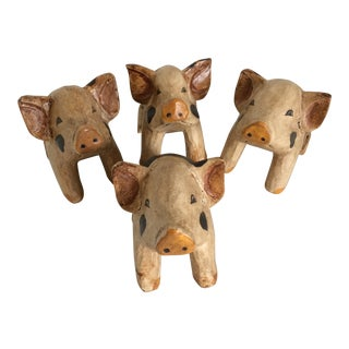 Pig Napkin Holders - Set of 4 For Sale