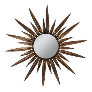 Copper-Plated Sunburst Mirror