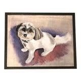 Image of Original Dog Portrait Painting Signed For Sale