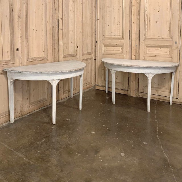 Banquet Table, Painted, Early 19th Century Swedish Gustavian Period For Sale - Image 10 of 13