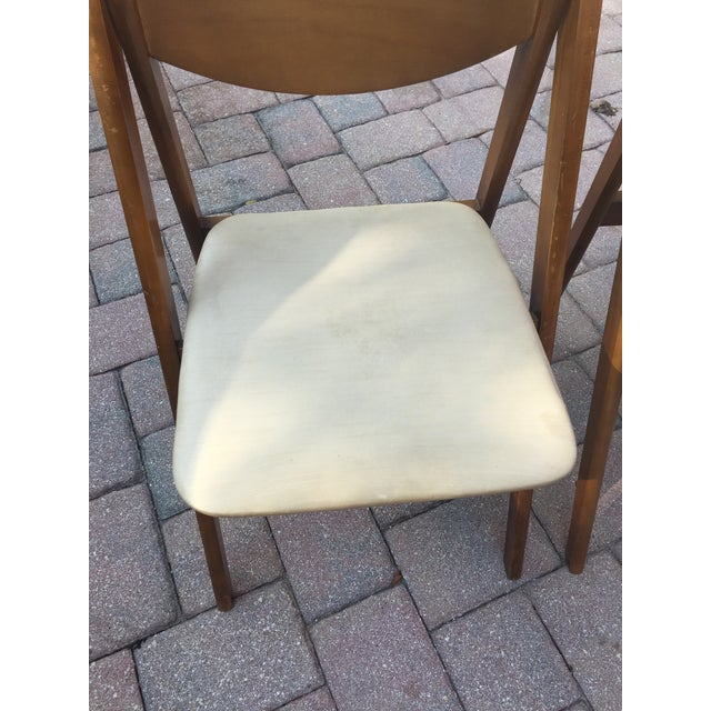 Tan Mid -Century Modern Stakmore Folding Bentwood Table & Chairs- Set of 5 For Sale - Image 8 of 13