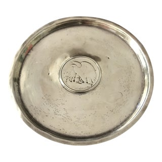 Vintage Sterling Silver Liberty Half Dollar Coin Dish For Sale