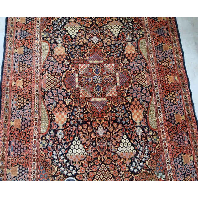 1880s, Handmade Antique Persian Dabir Kashan Rug 4.1' X 6.2' For Sale - Image 10 of 12