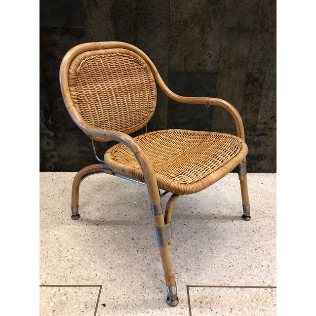 Mid-Century Modern Pair Mats Theselius Cane Chairs For Sale - Image 3 of 8