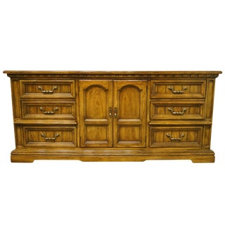 20th Century Italian Dixie Furniture Triple Door Dresser For Sale