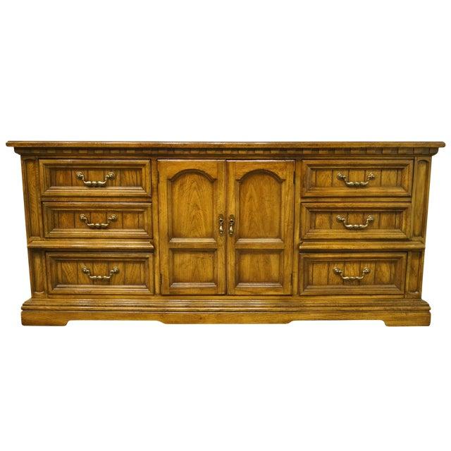 20th Century Italian Dixie Furniture Triple Door Dresser For Sale