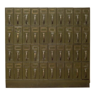 Mounumental Industrial Courthouse Ledger File Cabinet C.1940 For Sale