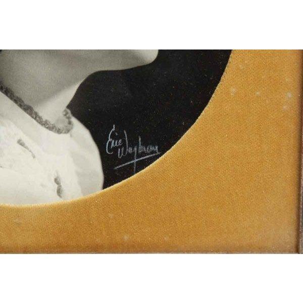 Vintage Framed Trio of Children's Portraits For Sale - Image 4 of 4