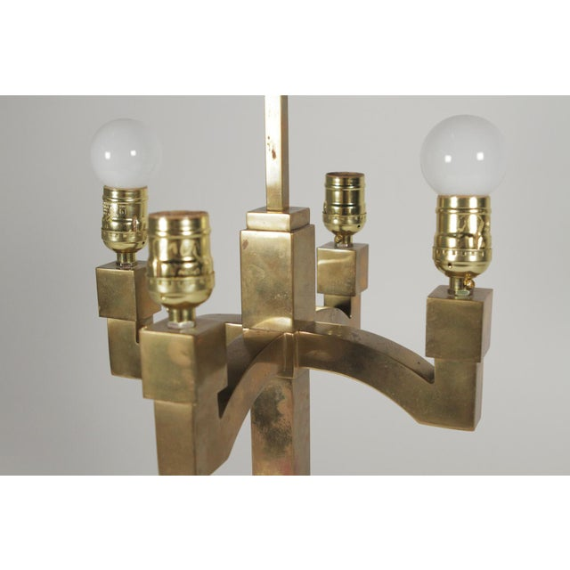 Mid-Century Modern Brass Table Lamps - a Pair For Sale - Image 10 of 11