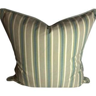 Ralph Lauren Men's Shirting Cotton Stripe Pillow With Down Insert For Sale