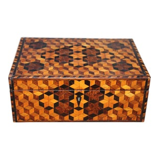 Star Pattern Speciman Wood Sewing Box