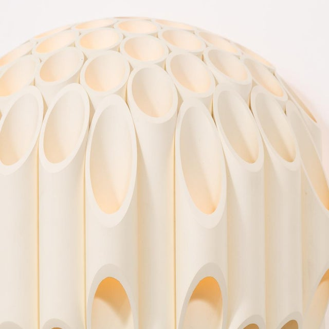 Plastic An Exceptional Pair of Spherical Wall Sconce by Rougier Canada 1970s For Sale - Image 7 of 8