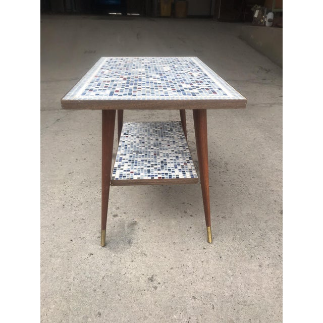 Vintage Mid-Century Modern Mosaic Tile Occasional Table For Sale - Image 4 of 9