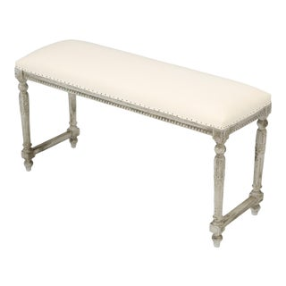 Antique French Louis XVI Style Painted Bench For Sale