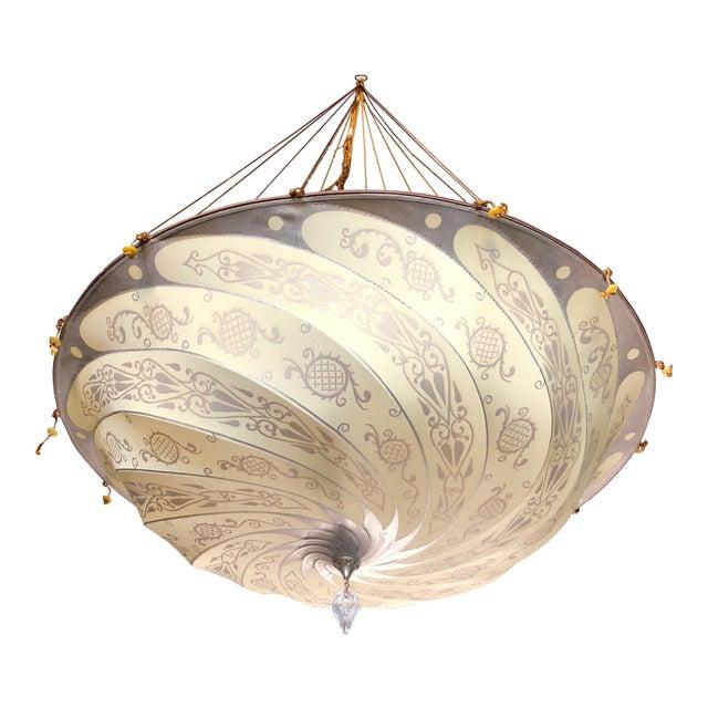 Fortuny original hanging silk parasol chandelier chairish fortuny original hanging silk parasol chandelier for sale aloadofball Choice Image