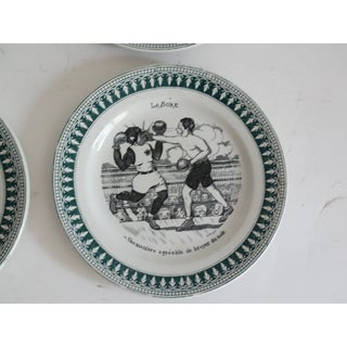1920s Vintage French Sporting Humorous Faience Plates- Set of 4 Preview