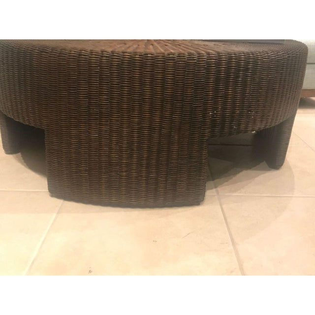 Hickory Chair Wicker Round Coffee Table - Image 4 of 4