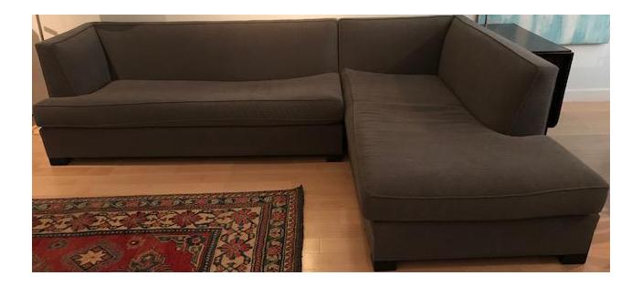 Mitchell Gold Bob Williams Jordan L Shaped Sectional Sofa