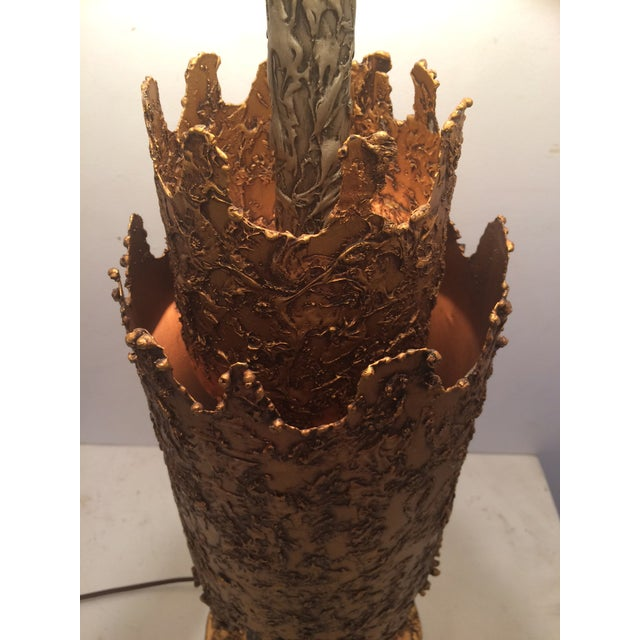 Brutalist Brutalist Table Lamp by Tom Green for Feldman For Sale - Image 3 of 9