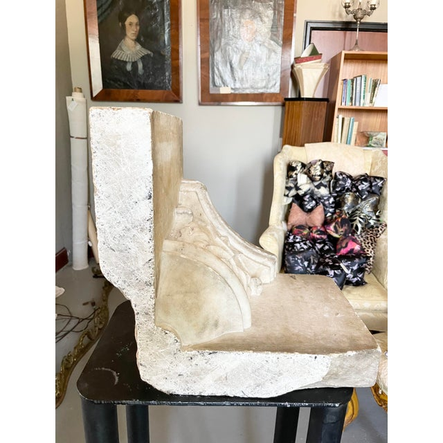 Antique Renaissance Era Marble Cornice Section Poseidon Trident Over Sea Shell For Sale - Image 10 of 13