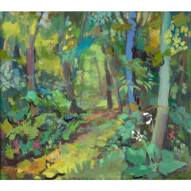 """Amy Griffith Colley Amy Griffith Colley """"Path in the Woods"""" Print For Sale - Image 4 of 4"""