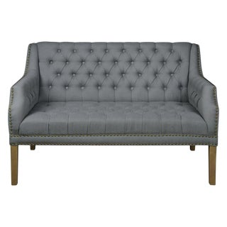 Modern Forty West Reese Tufted Settee For Sale