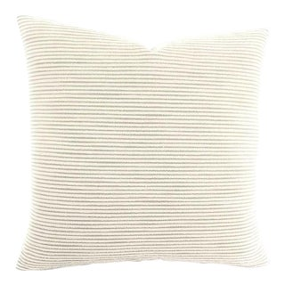 """Holly Hunt Great Outdoors Rip Tide Color Optic White Pillow Cover - 20"""" X 20"""" For Sale"""