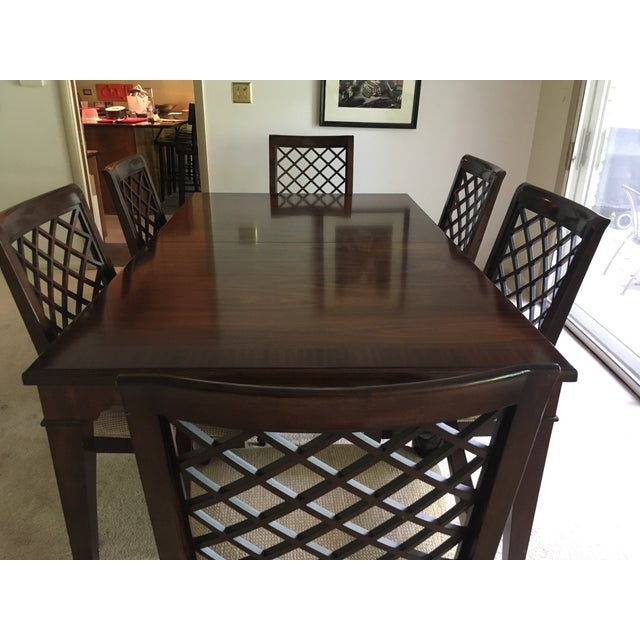 Lovely Bernhardt dining set. Purchased in the early 2000s from a Bernhardt showroom. We didn't use it as often as I would...