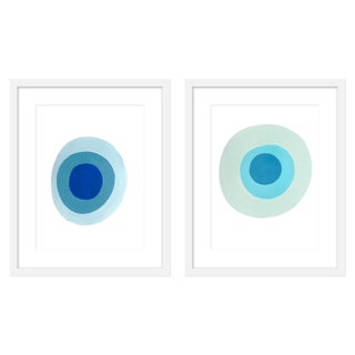 "Medium ""True and Larimar, a Pair"" Print by Neicy Frey, 34"" X 21"" For Sale"