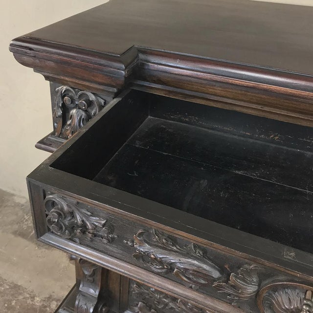 Brown 19th Century Italian Renaissance Commode For Sale - Image 8 of 13