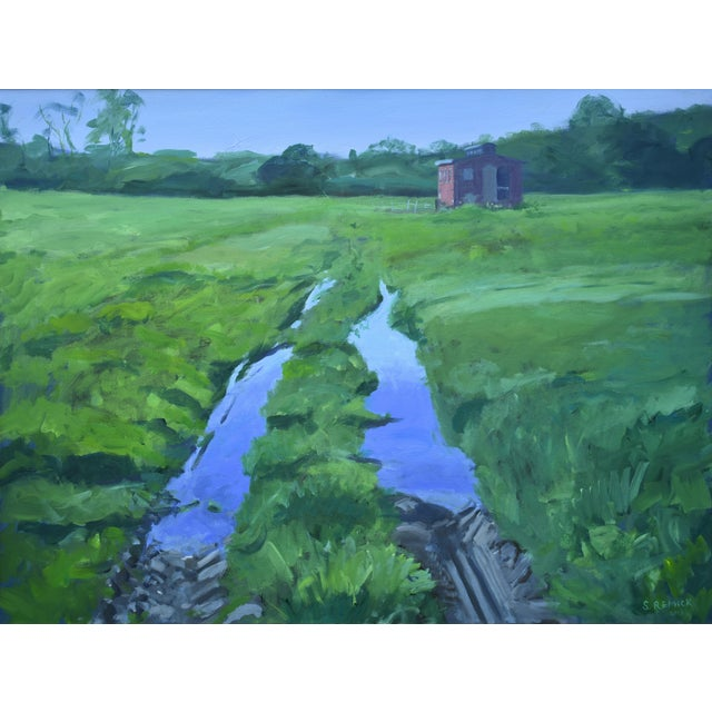 """""""Ruts in the Field to the Chicken Coop"""" Painting For Sale - Image 12 of 12"""