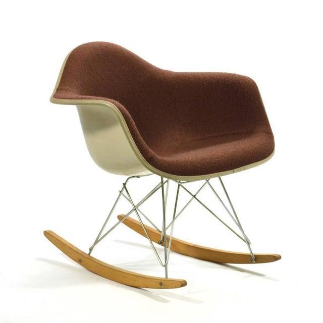"Herman Miller Eames ""Baby Rocker"" Rar by Herman Miller with Alexander Girard Upholstery For Sale - Image 4 of 11"
