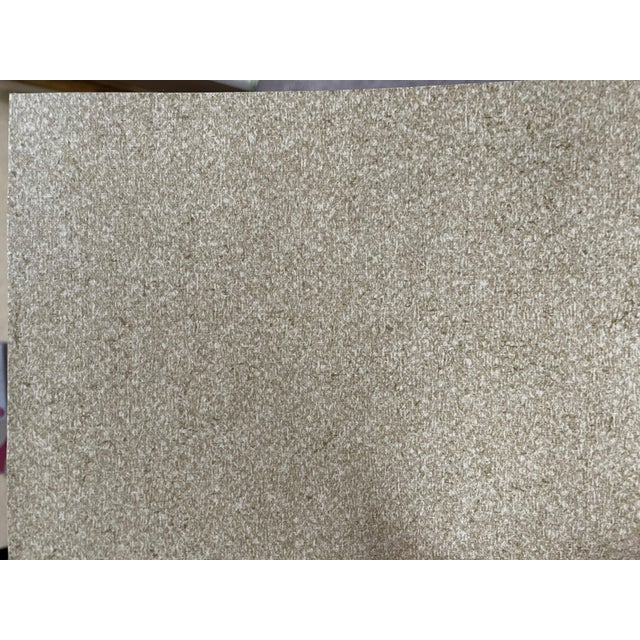 Smooth Oatmeal pattern and color. Manufacturer: US Vinyl Made Between: 2010-2020 Woven back. Class A Type II Vinyl....