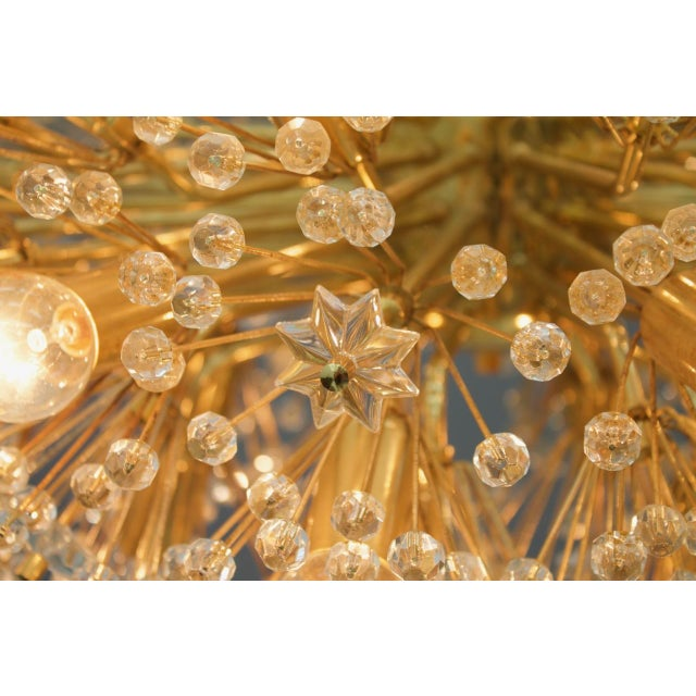 Huge Brass and Glass Chandelier, 1960s For Sale - Image 4 of 7