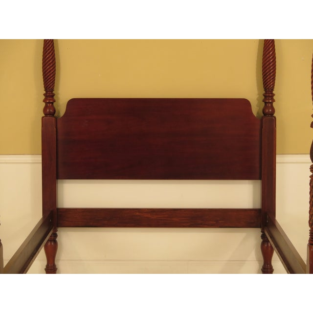 Traditional 1990s Vintage Hickory Chair Co Queen Size Mahogany Plantation Bed For Sale - Image 3 of 10