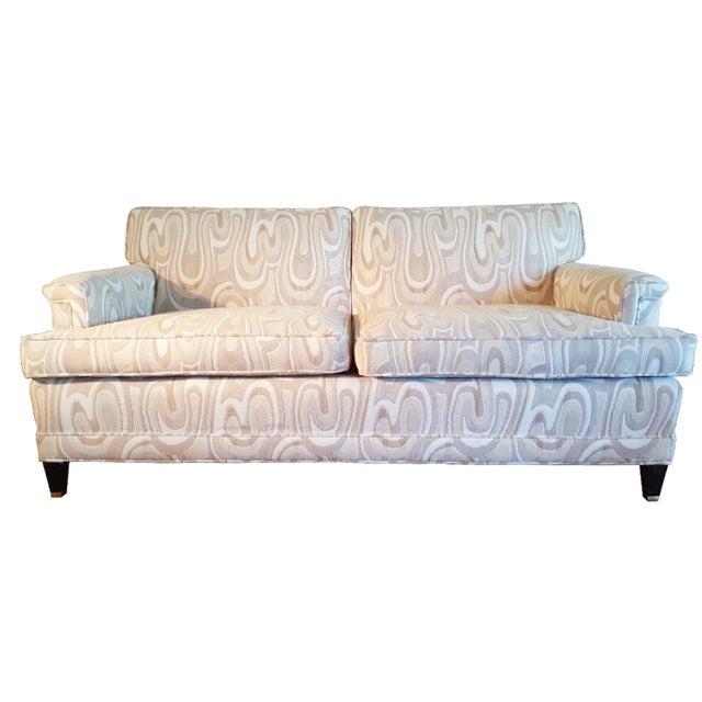 1940s Maison Jansen-Style Neutral Sofa For Sale